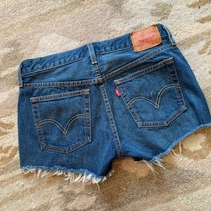 Levi 501 Button Fly Cut Off Shorts